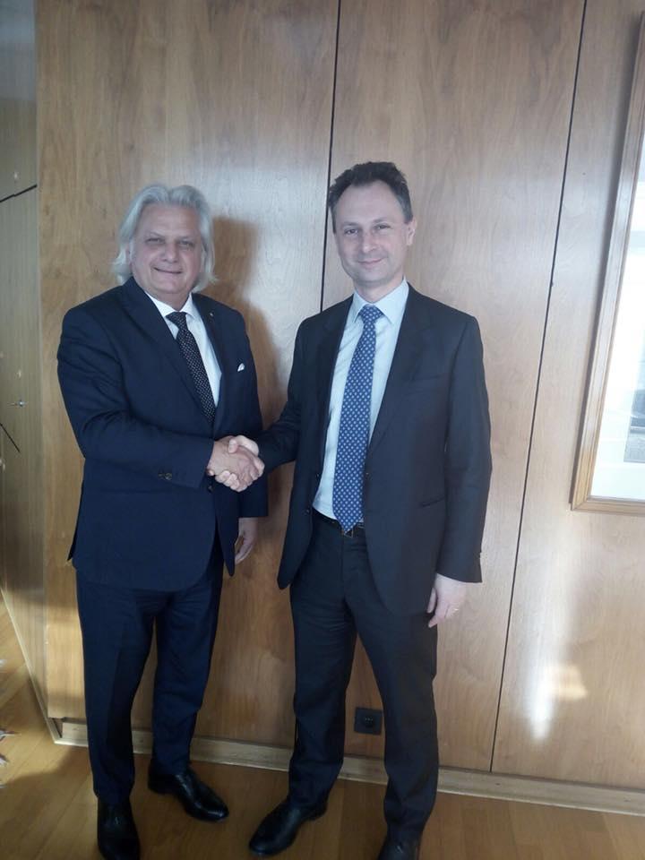 Il Vice Presidente della IICUAE, Silvano Martinotti, incontra il Direttore Generale di Confindustria Bruxelles, Matteo Borsani.