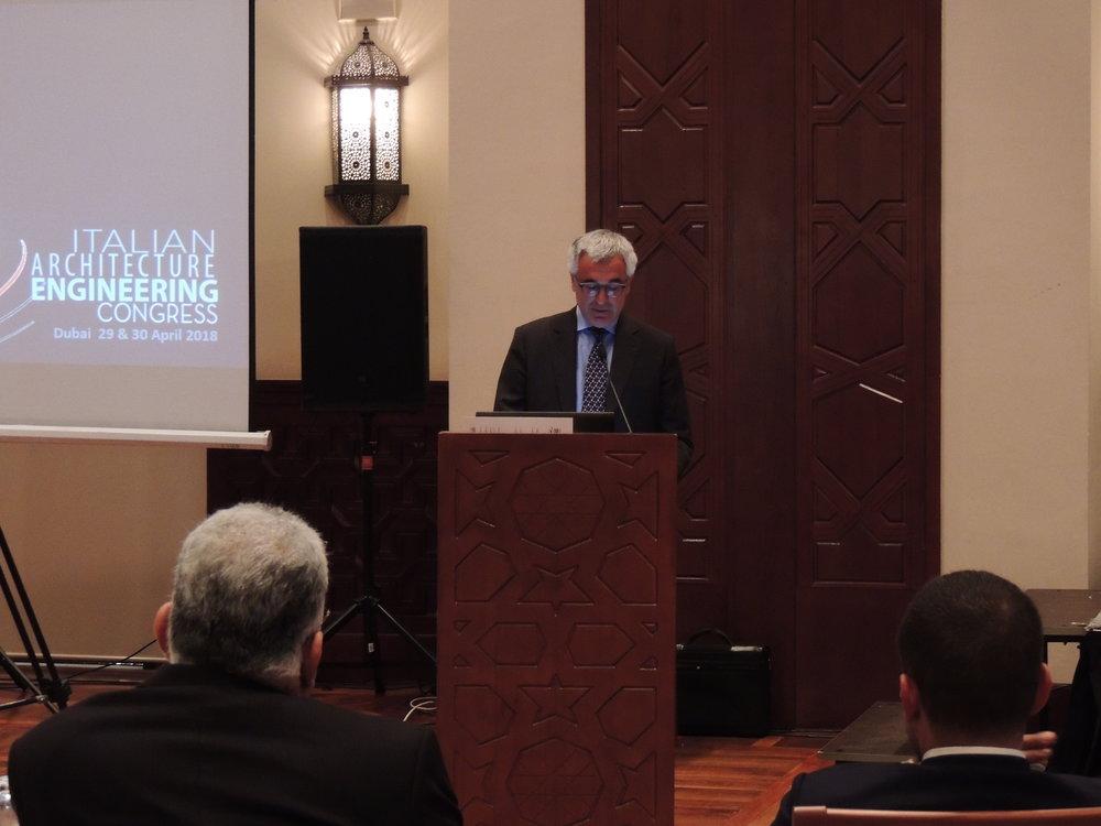 S.E. Liborio Stellino, Ambasciatore di Italia negli EAU   Saluti istituzionali