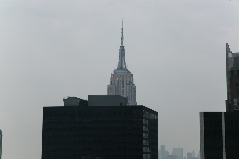 The view Warhol and Mekas had of the Empire State Building in 1963 is obscured today by newer construction.