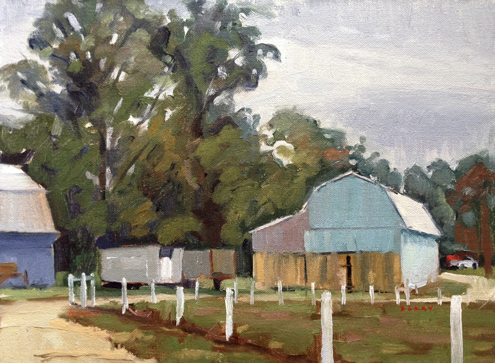 Serenity Barn     11x14 in.  Oil on linen panel     350.