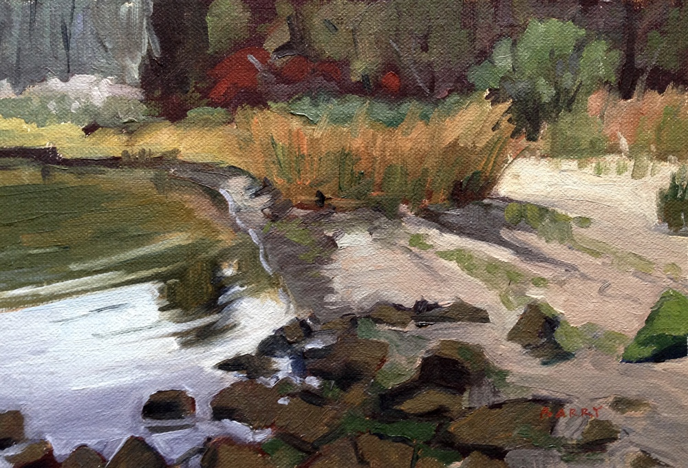 Oil, 6x9.  Jefferson Patterson Park, St. Leonard, MD.  250.