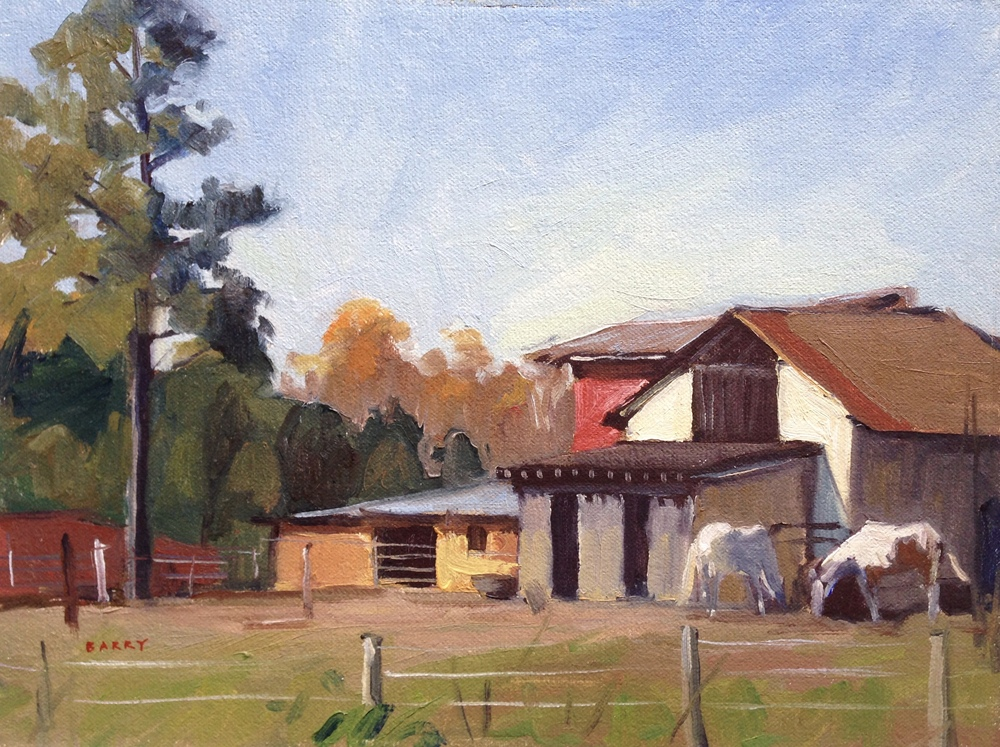 Oil, 9x12. Lusby Horse Farm, Lusby, MD.     300.