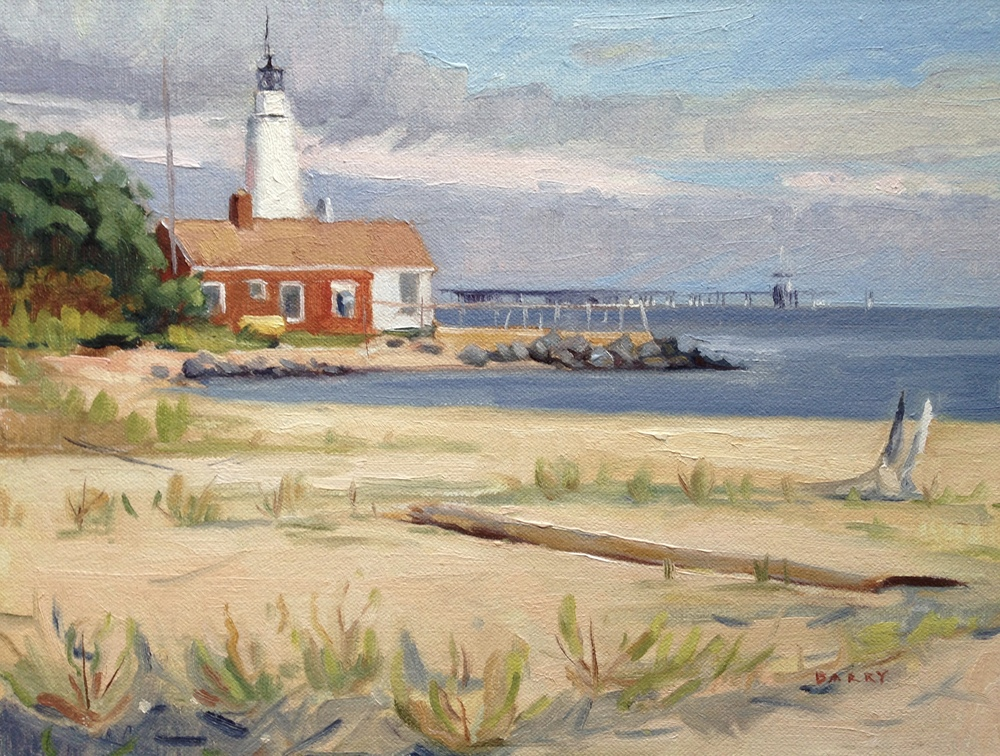 Oil, 9x12.  Cove Point, MD.   300.
