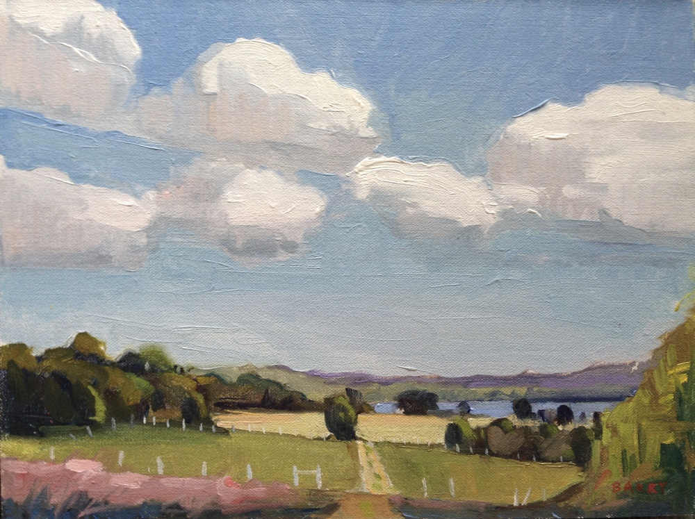 Oil, 9x12.  Serenity Farm, Benedict, MD.     300.