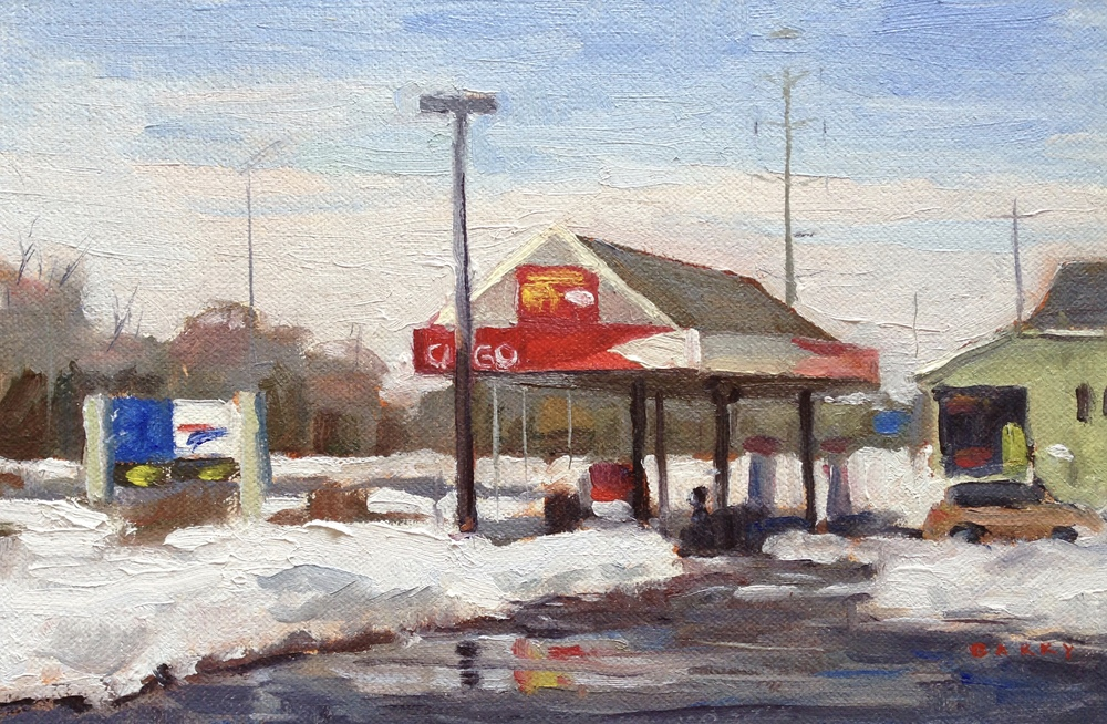 Oil, 6x9.  Citgo Station, Solomon's Island, MD.     250.