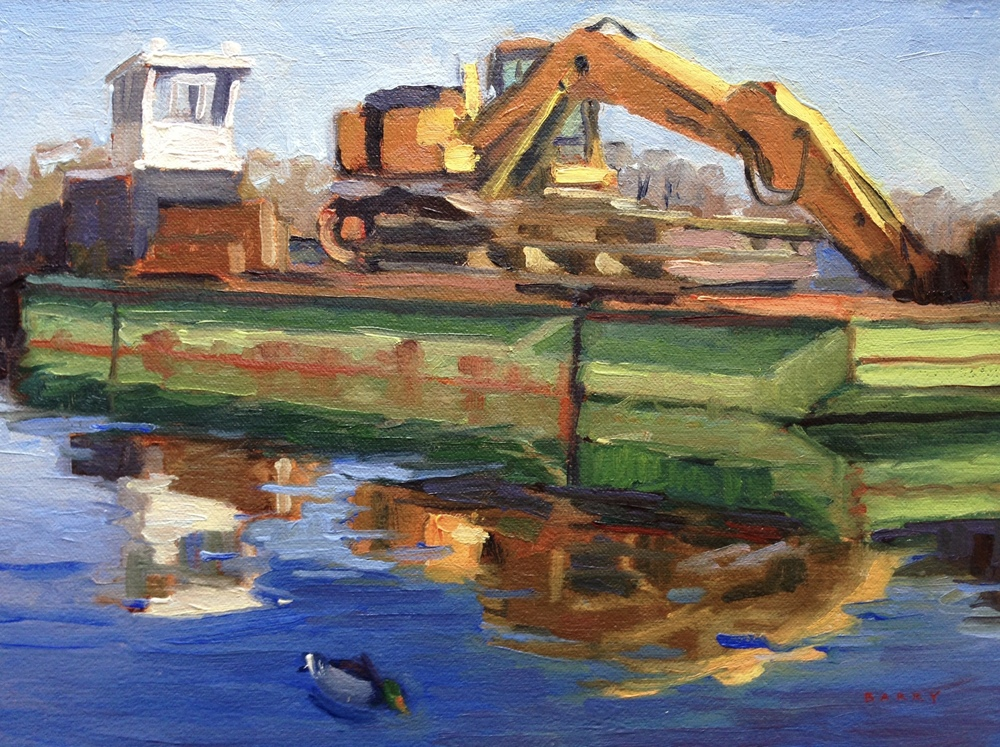 Oil, 9x12.  Solomon's Island, MD.     300.