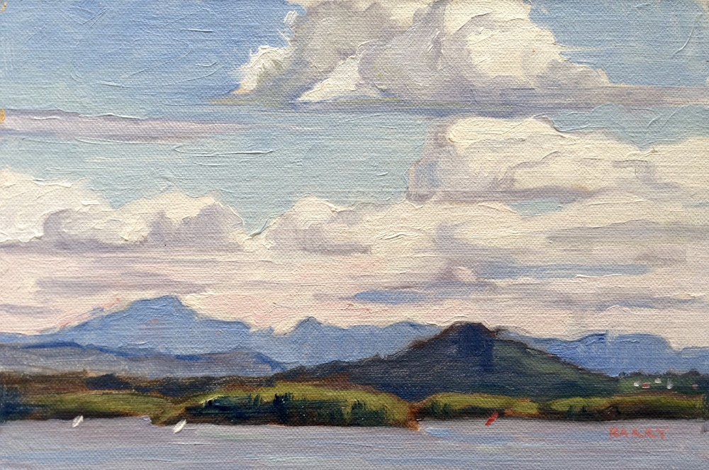 Oil, 6x9.  Essex, NY.     250.