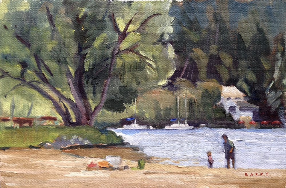 Oil, 6x9.  Crystal Beach, Castleton, VT.  250.