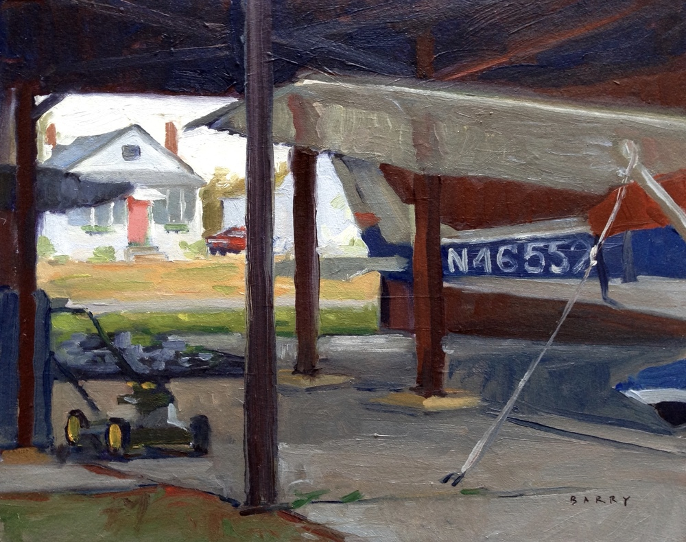 Oil, 8x10.  Lee Airport, Edgewater, MD.     275.