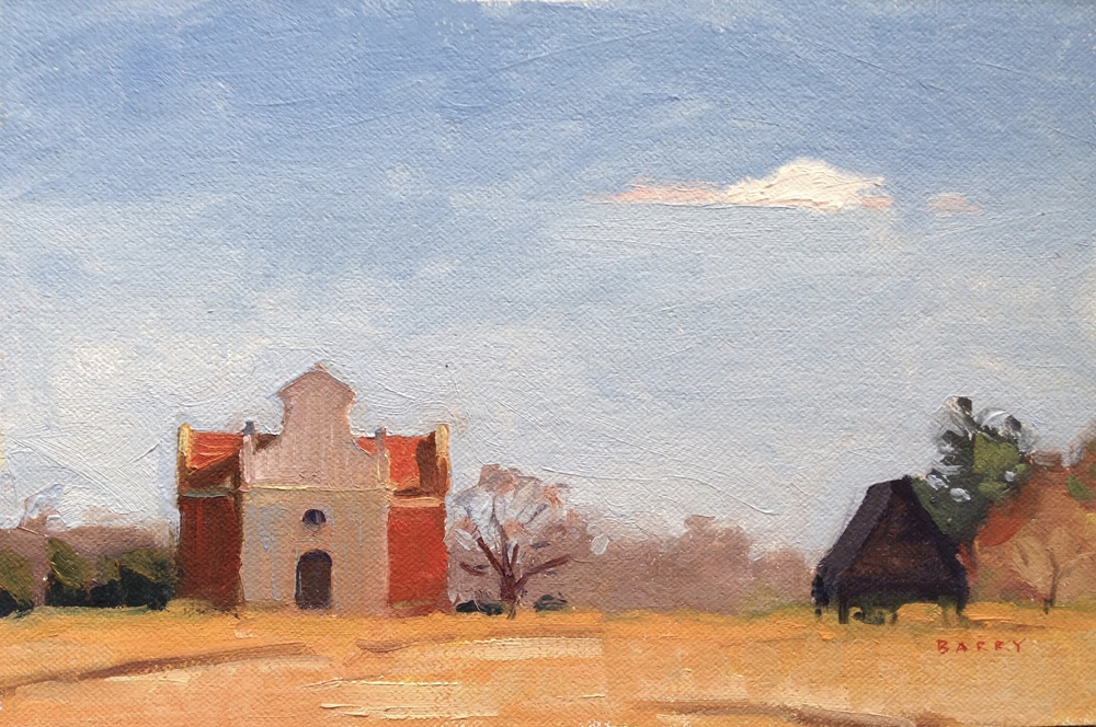 Oil, 6x9.  St. Mary's City, MD.    250.