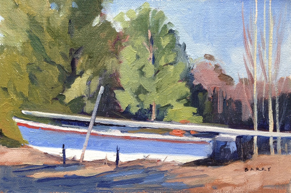 Oil, 6x9.  Cove Point Beach, Lusby, MD.     250.