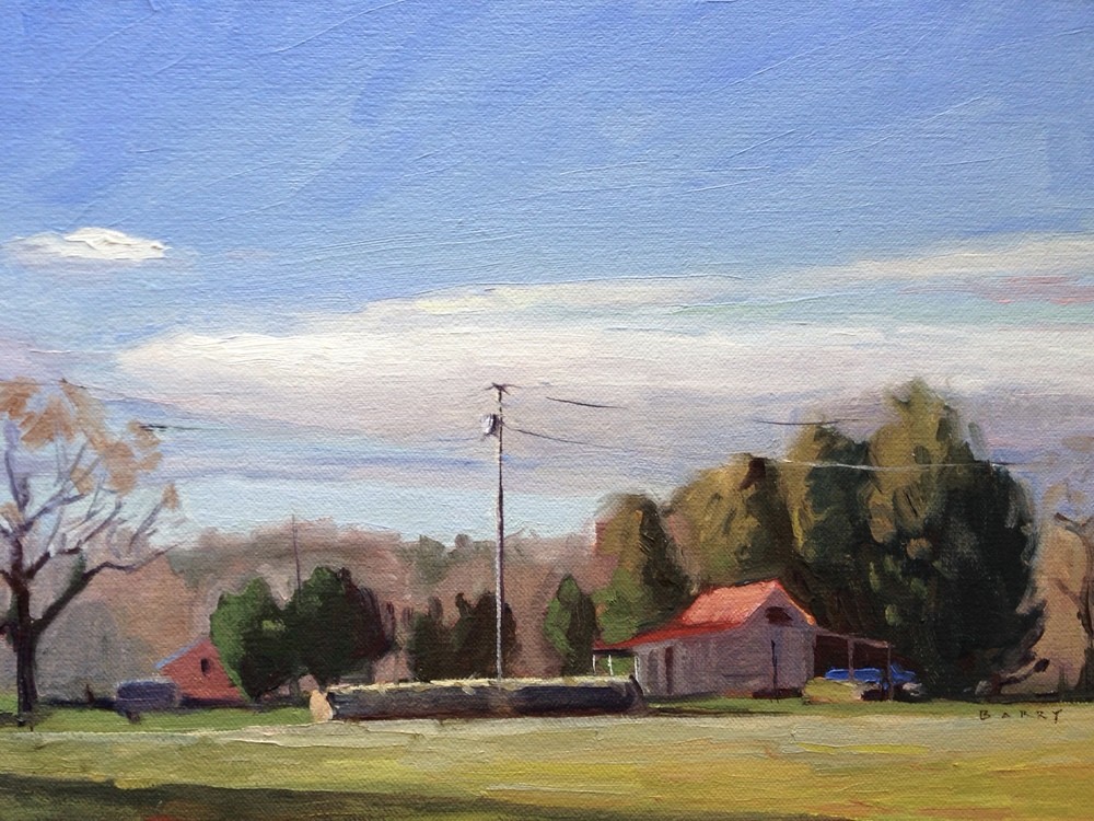 Oil, 9x12.  Near Myrtle Point, California, MD     300.