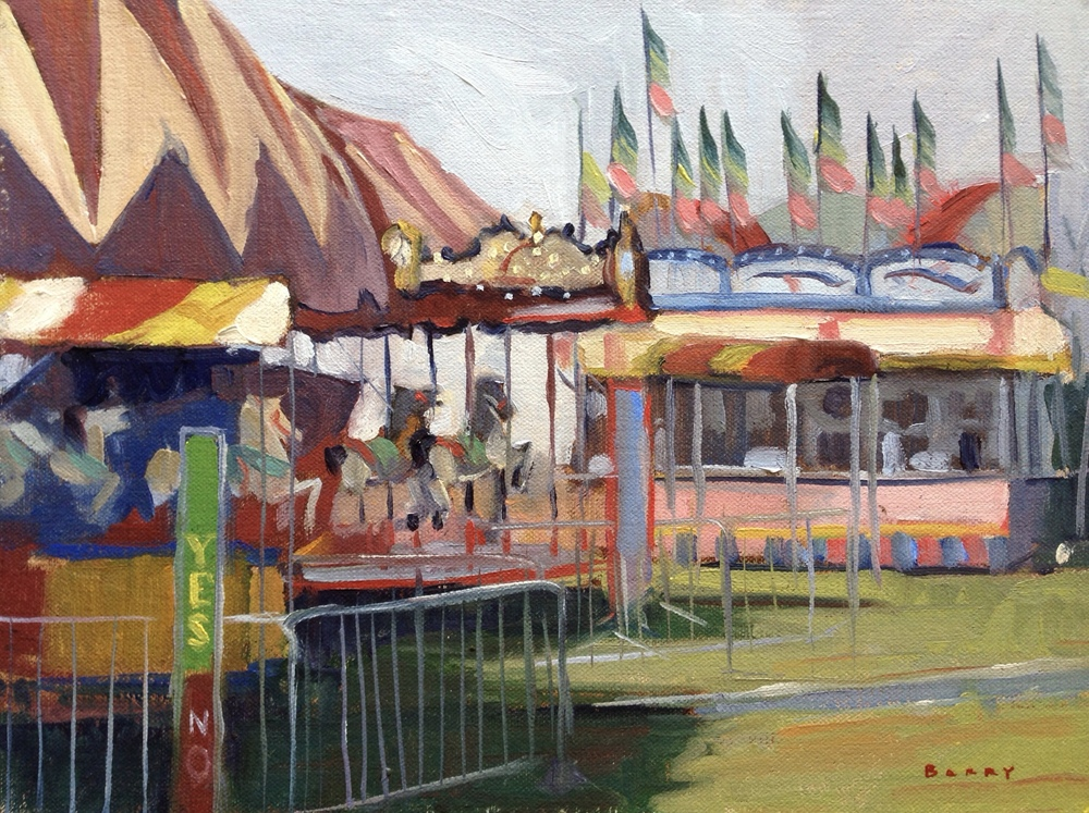 Oil, 9x12.  Calvert County Fairgrounds, Barstow, MD.     300.