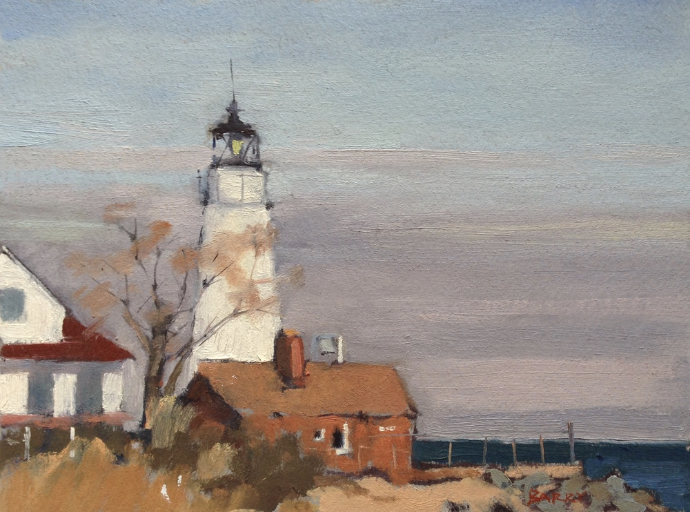 Oil, 6x8.  Cove Point Lighthouse, Lusby, MD     250.