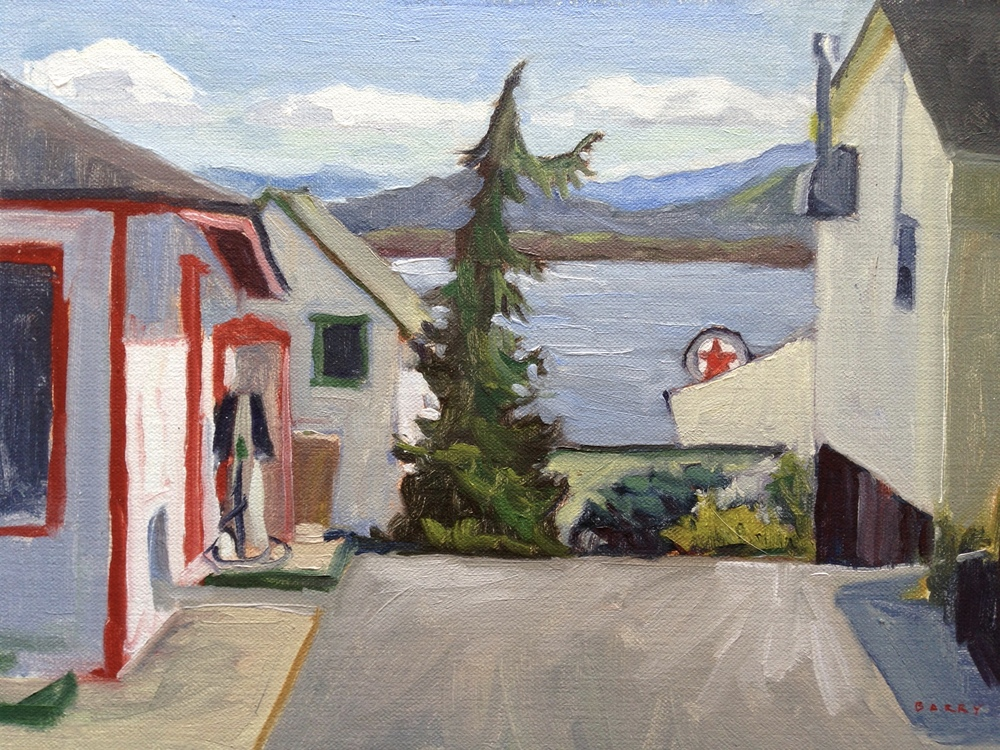 Oil, 8x10.  Essex, NY.     275.