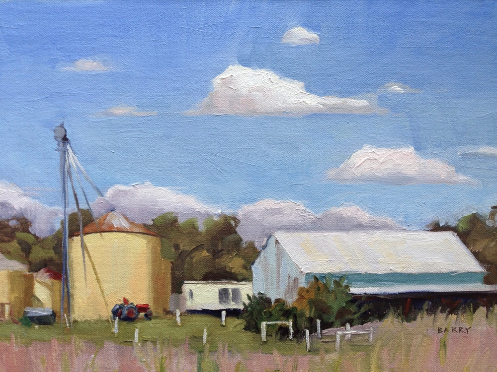 Oil, 9x12.  Serenity Farm, Benedict, MD     300.