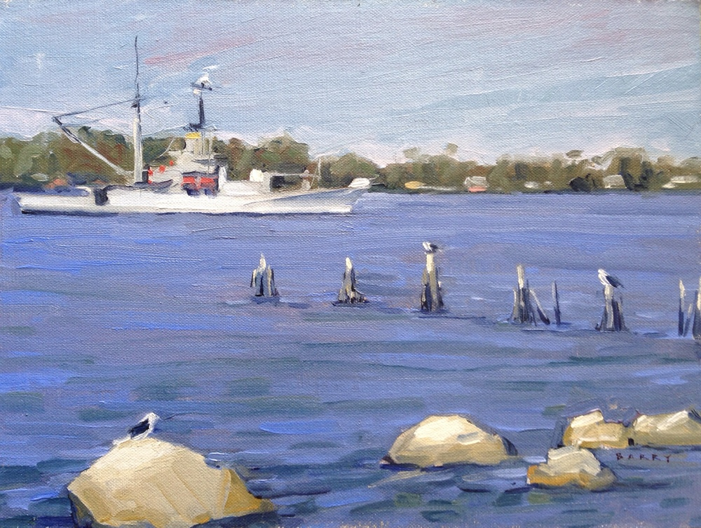 Oil, 9x12.  Navy Rec Center, Solomon's Island, MD     300.
