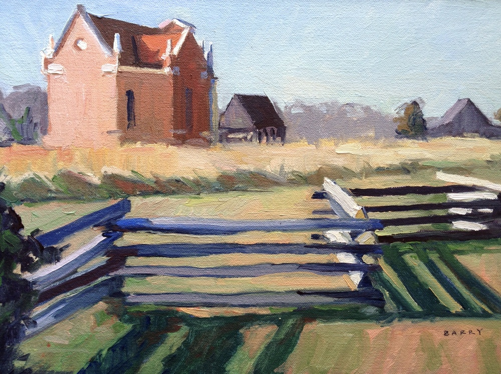 Oil, 9x12.  St. Mary's City, MD     300.