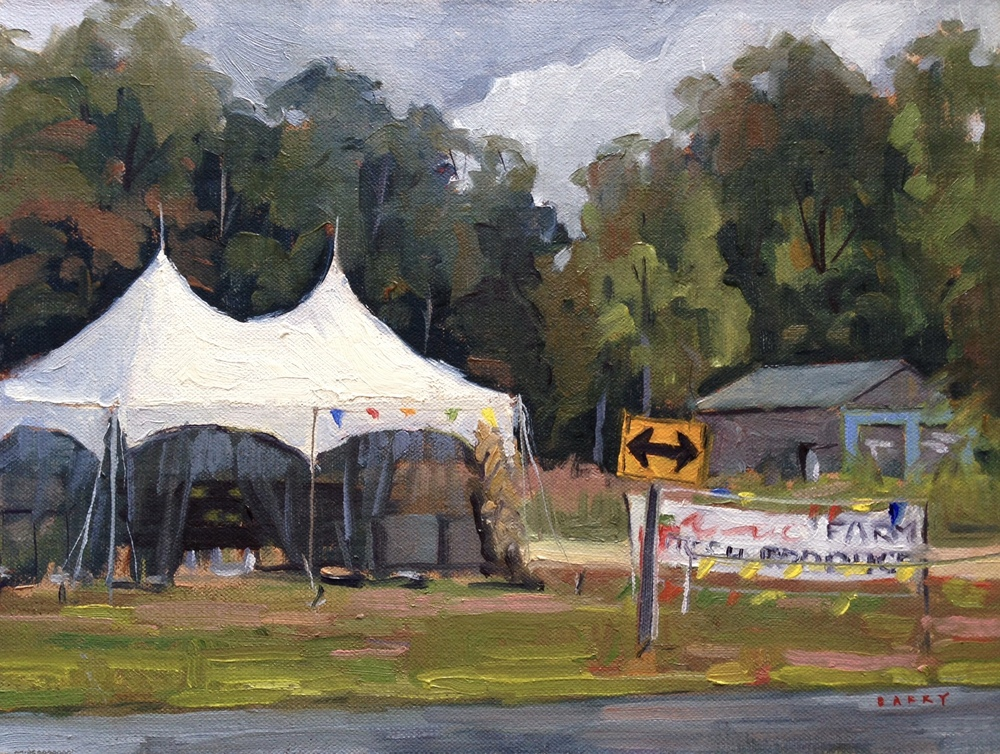 Oil, 9x12.  Near Leonardtown, MD.     300.