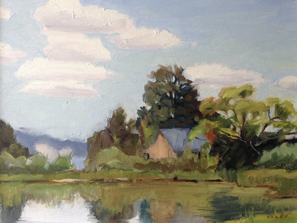 Oil, 11x14.  Jefferson Patterson Park, St. Leonard, MD.  350.
