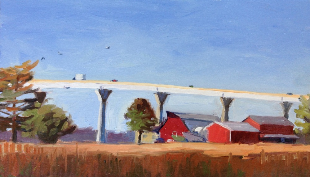 Oil, 8x14.  Solomon's Island, MD.     Sold.