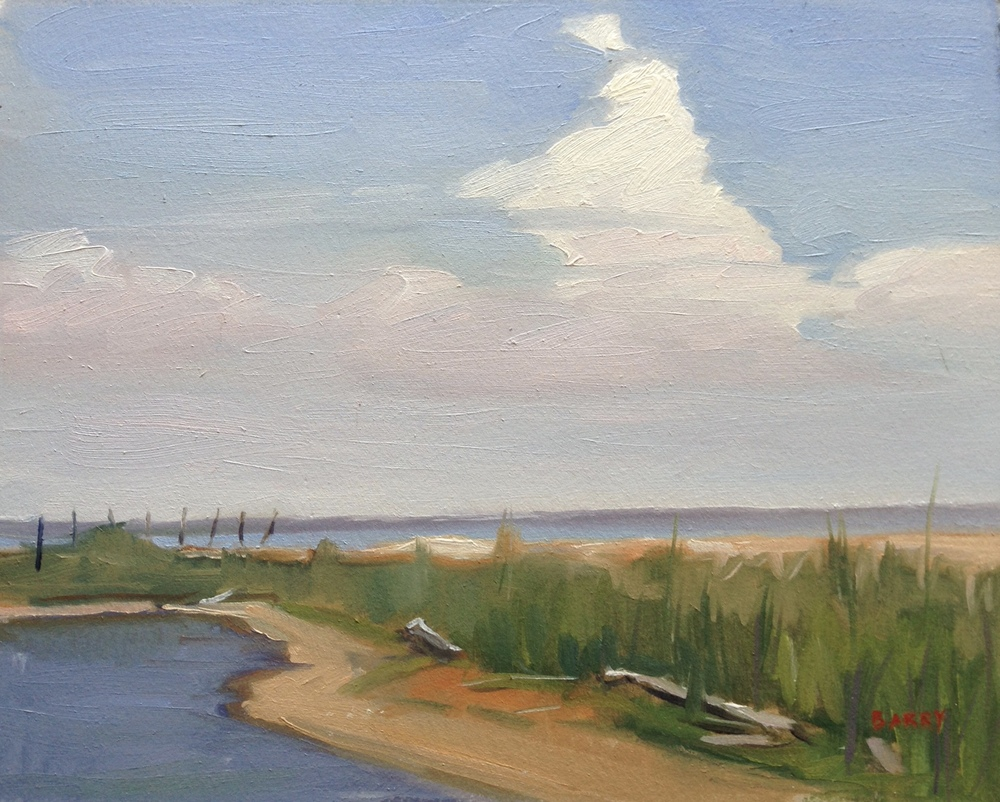 Oil, 8x10.  Flag Ponds Nature Park, Lusby, MD.  275.