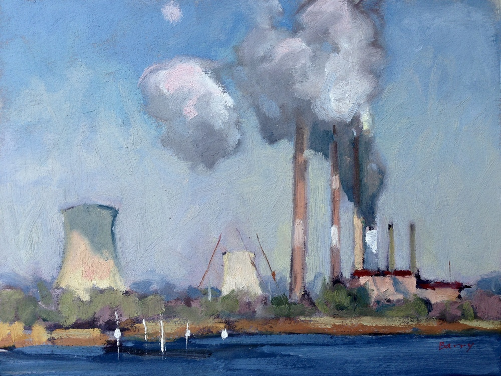 Oil, 8x10.  Chalk Point Power Plant, Charles County, MD.   275.