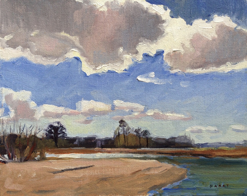 Clouds Over Patuxent River, MD     8x10 in.   Oil on linen panel     275.