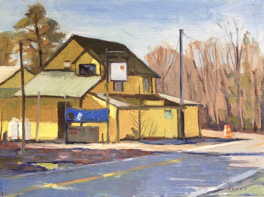 Oil, 11x14.  Cryer's Back Rd Inn, Compton, MD.  350.