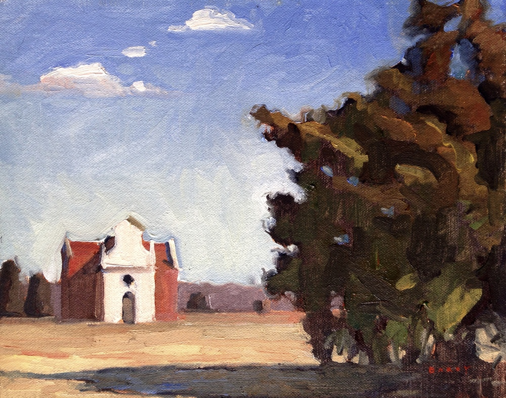 Oil, 8x10.  St. Mary's City, MD.  275.