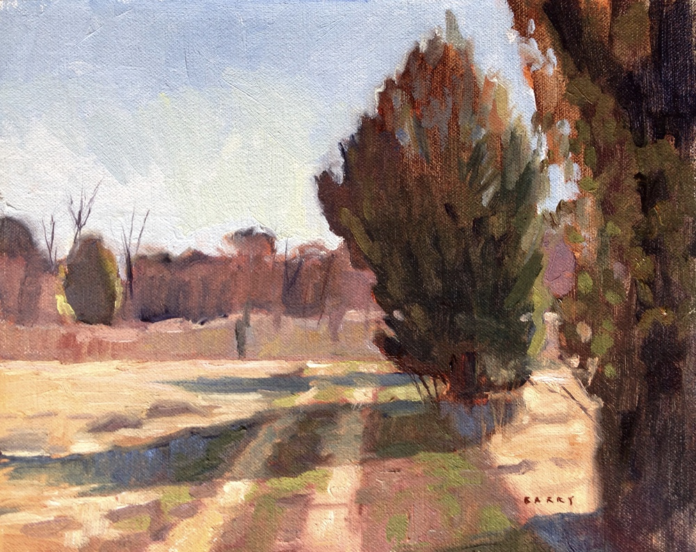 Long Shadows     8x10 in.  Oil on linen panel      275.