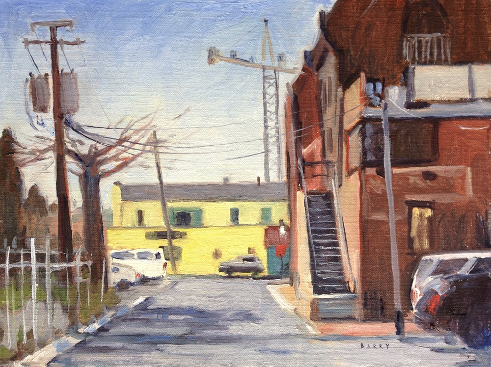 Out of the Way    9x12 in.  Oil on linen panel     300.