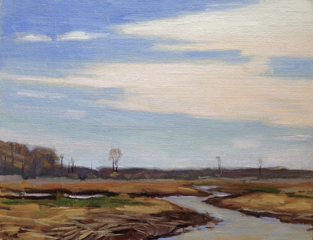 Dormant   Jug Bay Wetlands Sanctuary, Lothian, MD 11x14 Oil on linen panel   350.