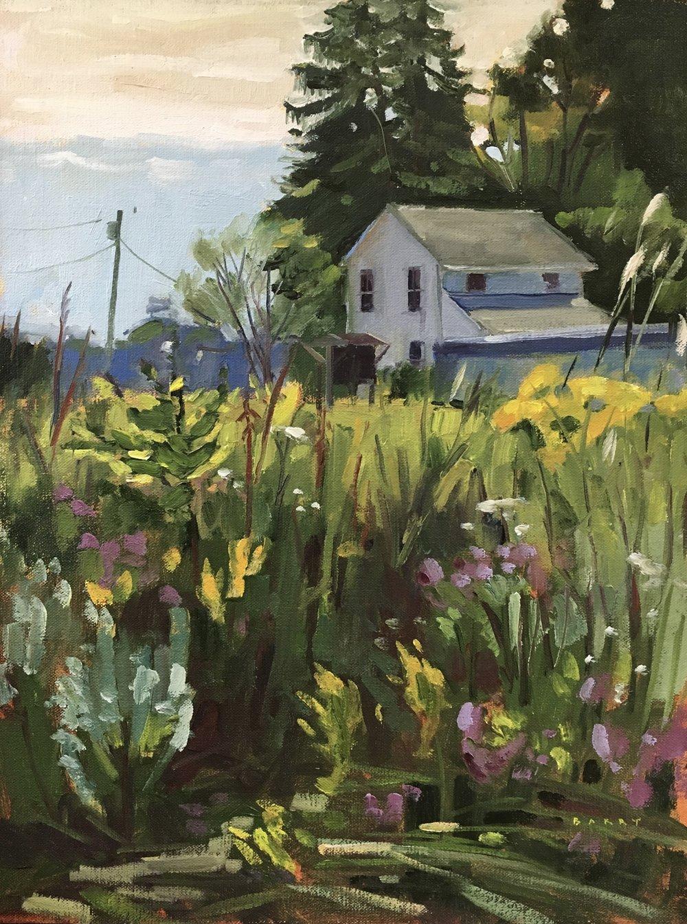Butterfly Garden   Lothian, MD   12x16 in. Oil on linen panel   400.