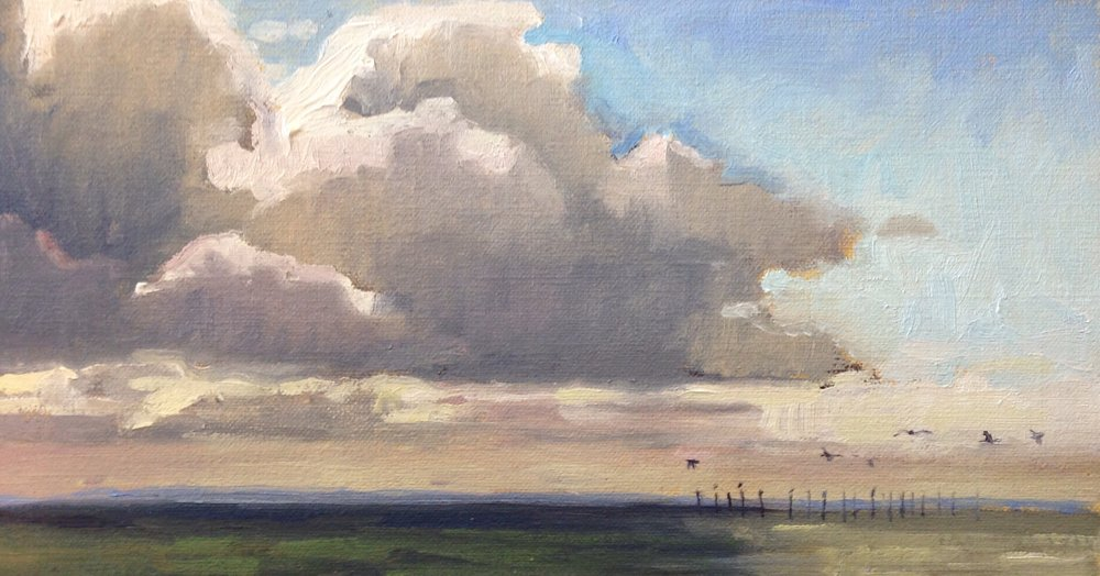 The Escape     6x12 in.   Oil on linen panel     Sold.