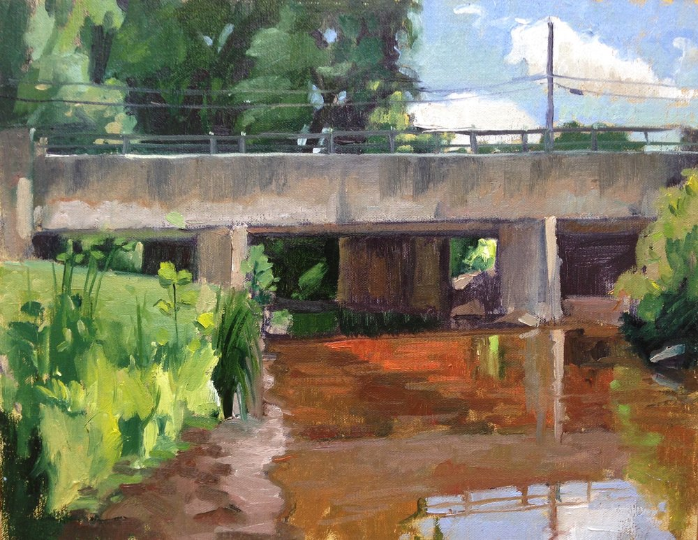 McIntosh Run    11x14 in.     Oil on linen panel     Sold.