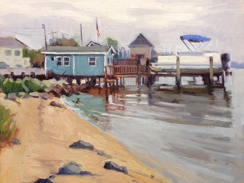 Solomons Boat House     11x14 in.  Oil on linen panel     350.