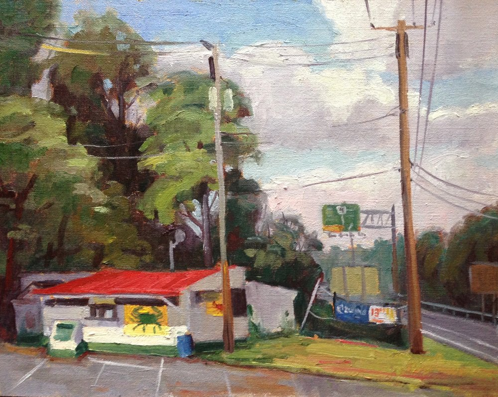 Crab Shack     11x14 in.   Oil on linen panel     350.