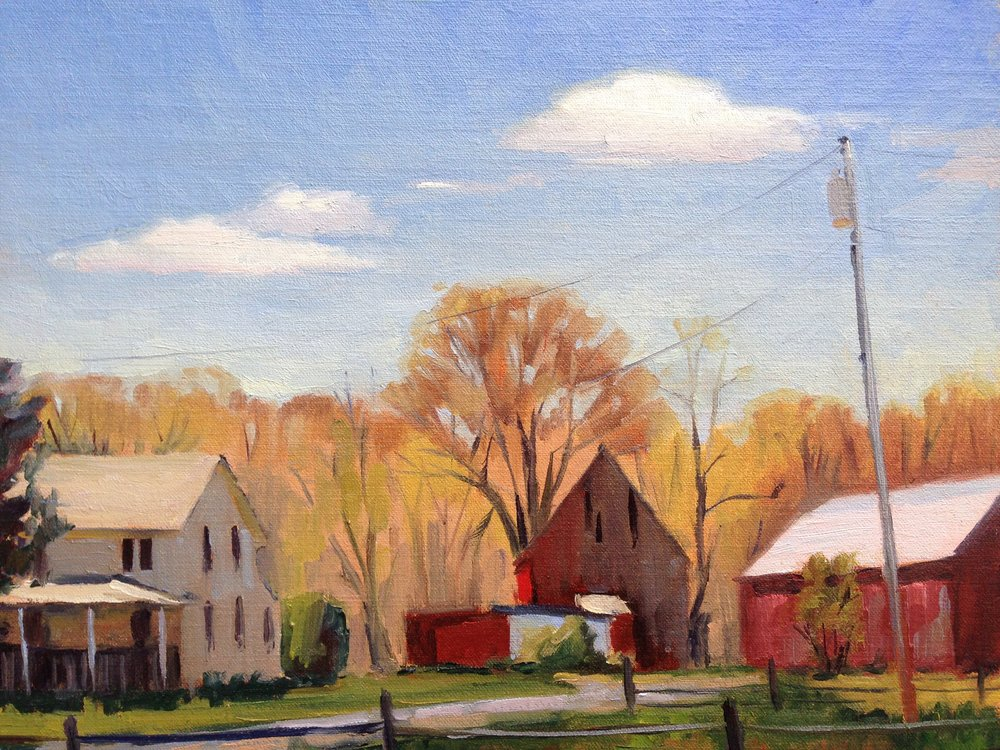 Blue Skies   11x14 in.  Oil on linen panel     350.