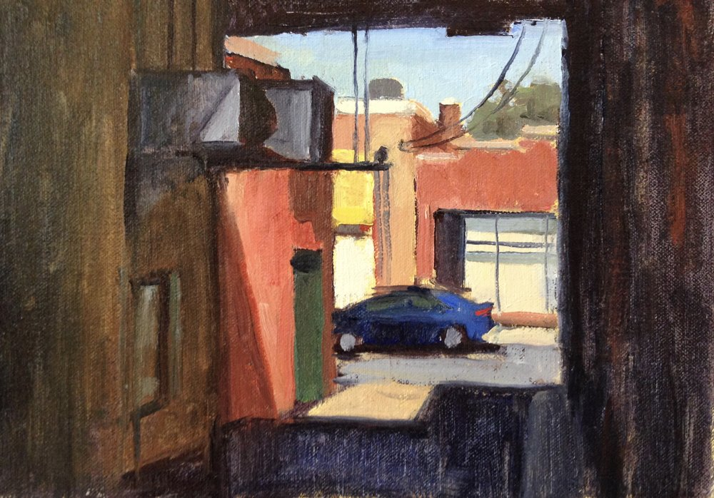 Parked     7x10 in.  Oil on linen panel     250.