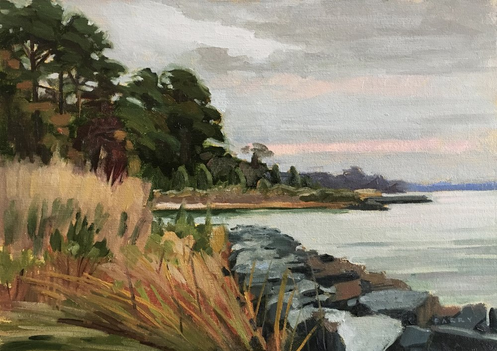 Newtowne Neck     10x14 in.  Oil on linen panel     350.
