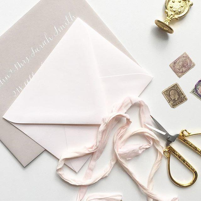 Envelope addressing ✉️ #vintagestamps #calligraphy