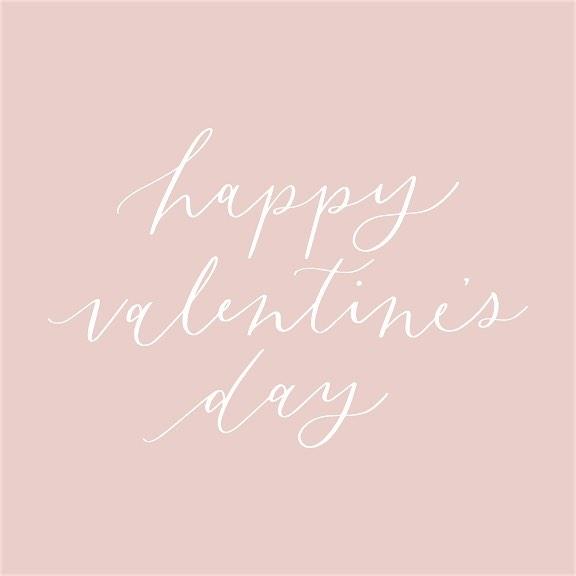Happy Valentine's Day ♥️ #calligraphy #handlettering #valentinesday #bemine #love #february