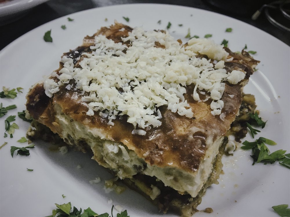 MOUSSAKA Oven baked traditional dishes   -