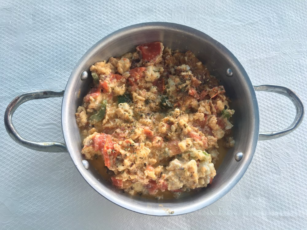 RUSTIC GREEK EGG SCRAMBLED  -