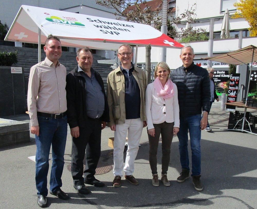vlnr: Martin Föllmi, Bruno Nötzli, Herbert Huwiler, Monika Lienert, Oliver Flühler (es fehlt: Walter Duss)