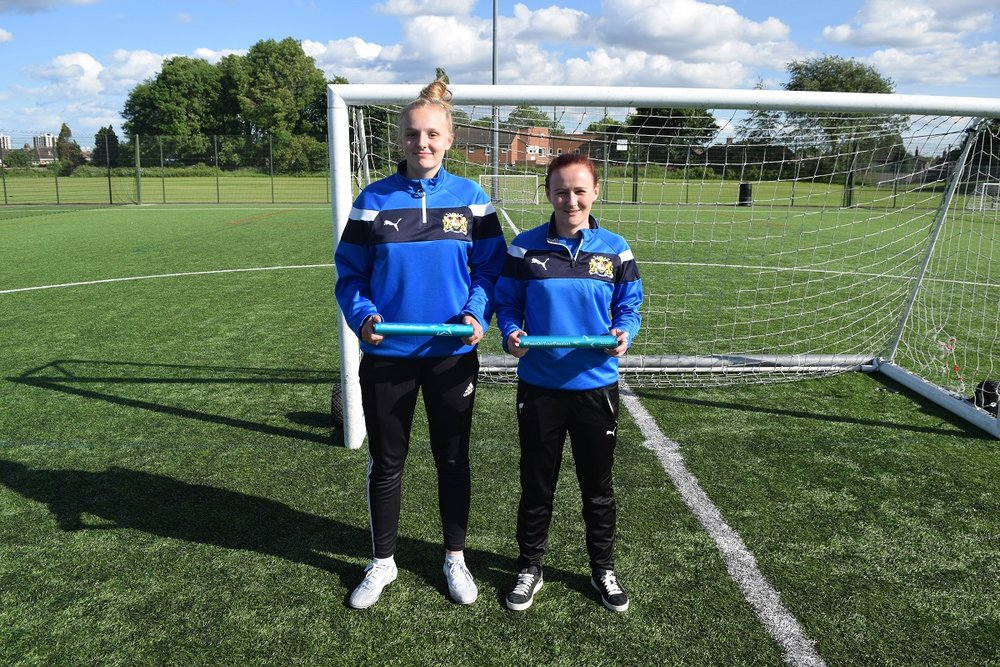 Ellie & Leonie - Benfield Junior Girls Football