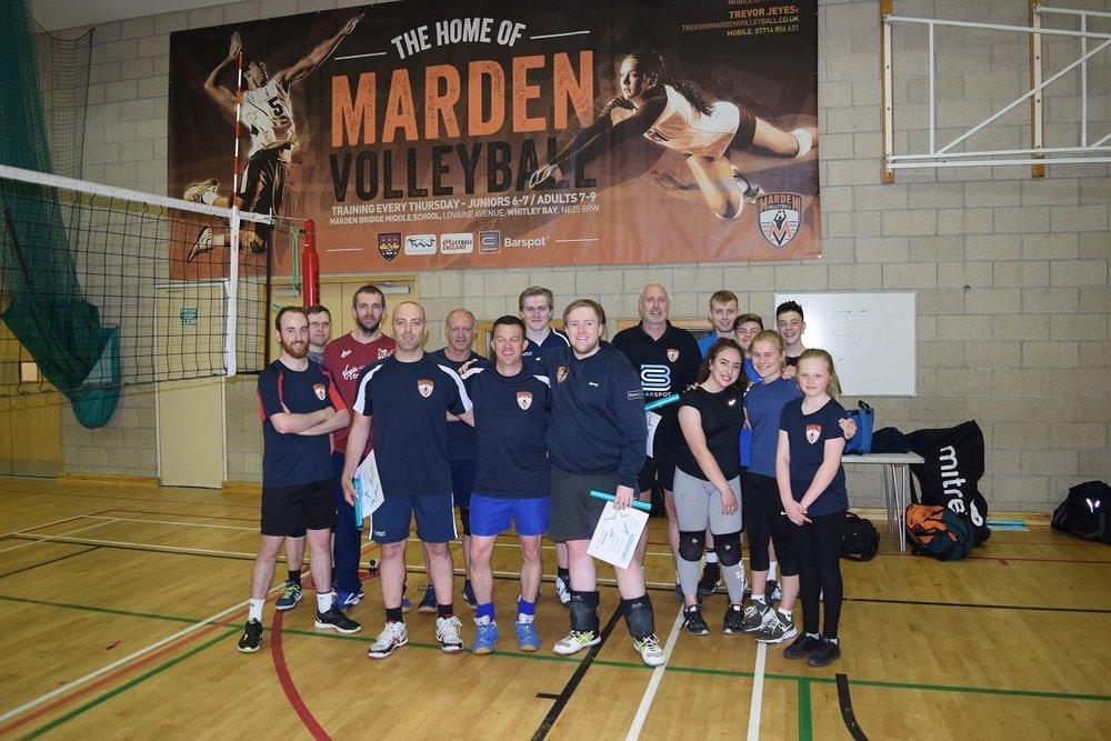 Trevor, Callum, Bob & Pablo - Marden Volleyball Club