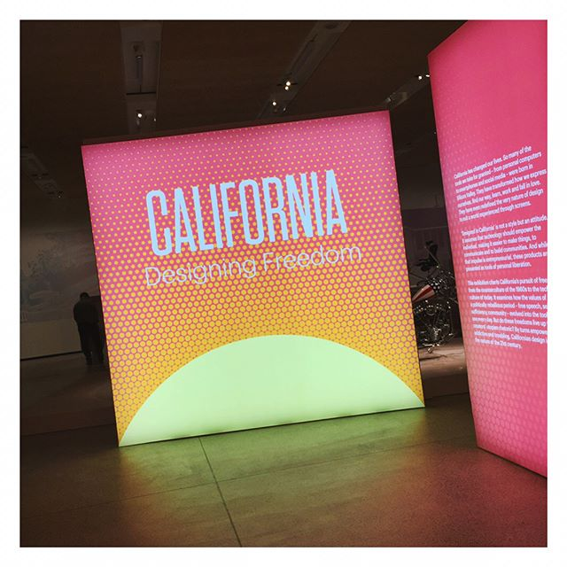 "Was at the ""California designing freedom"" exhibition this weekend. Loved it!"