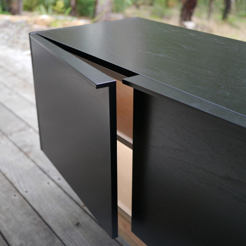 Floating TV Cabinet in ebonised jarrah              //                                   nathandaydesign.com.au